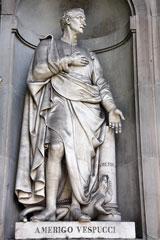 Amerigo Vespucci statue, Florence, Italy