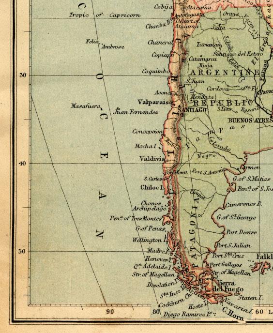 southwest south america map