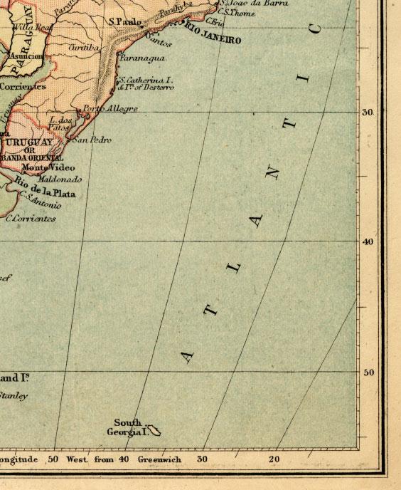 southeast south america map